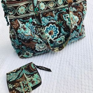 Vera Bradley tote and matching wallet